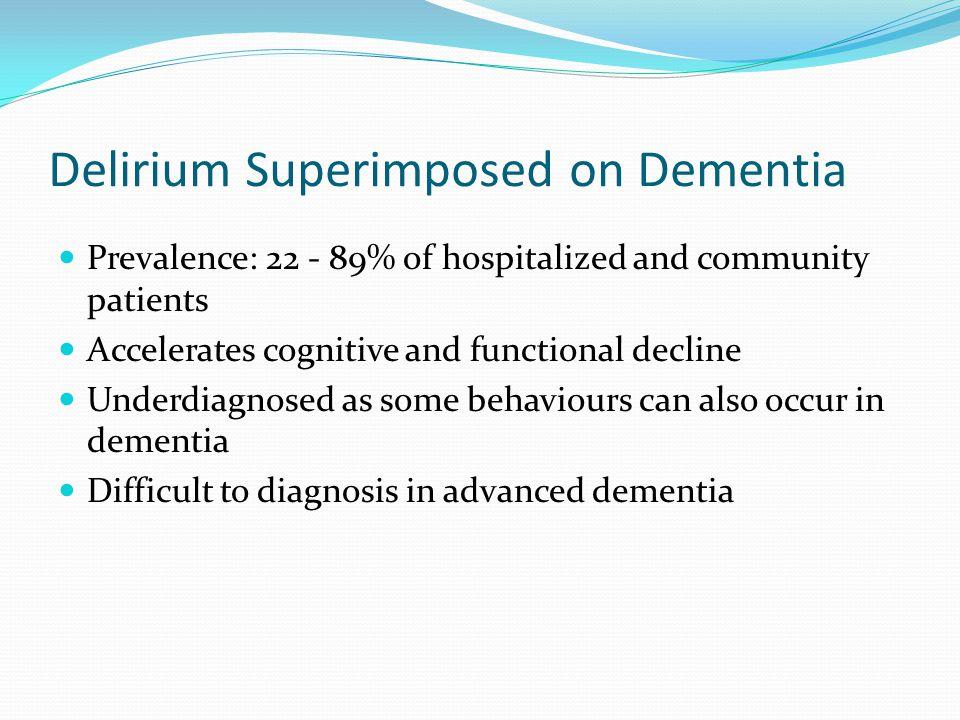 Delirium Superimposed on Dementia