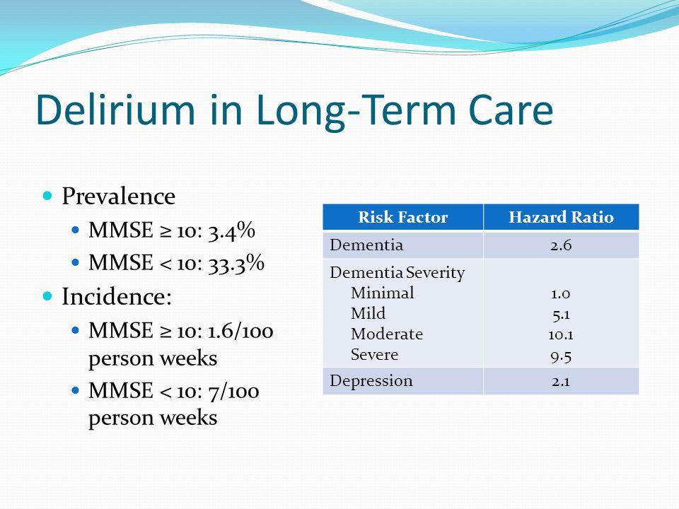 Delirium in Long-Term Care