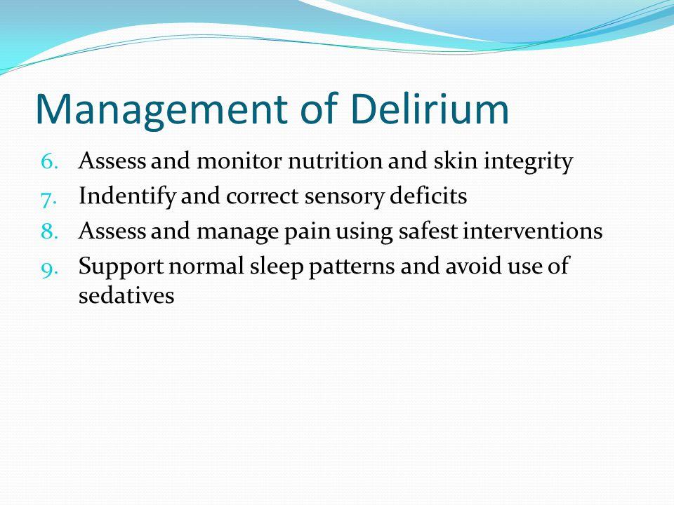 Management of Delirium