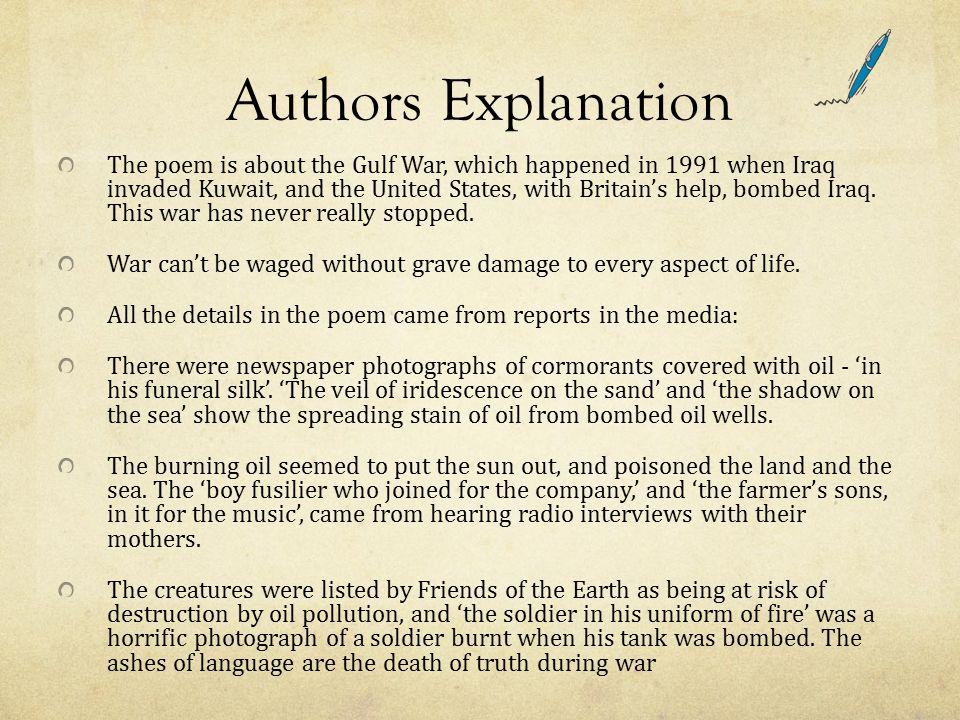 Authors Explanation