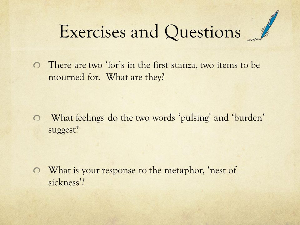 Exercises and Questions