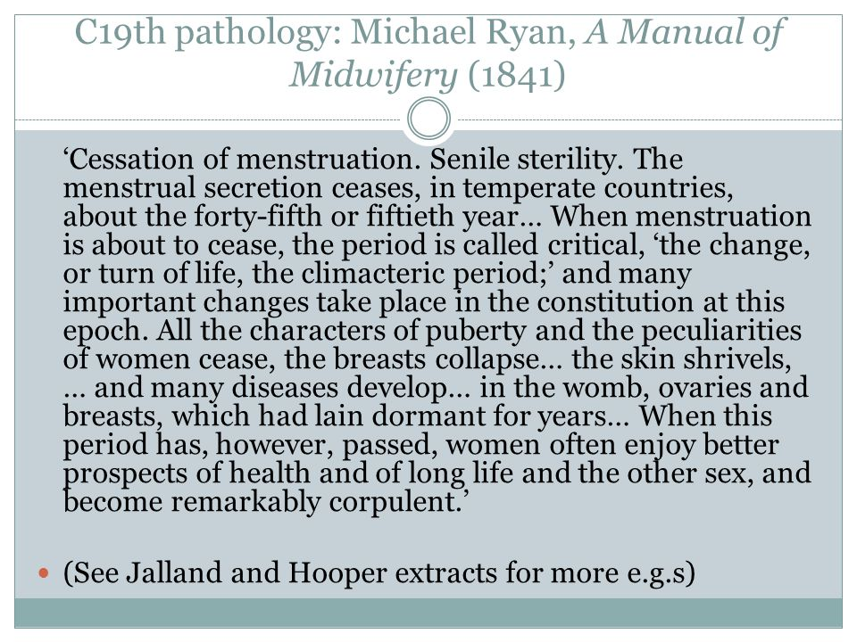 C19th pathology: Michael Ryan, A Manual of Midwifery (1841)