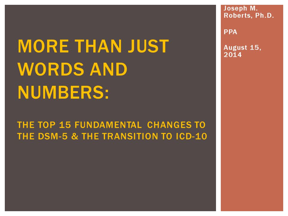 MORE THAN JUST WORDS AND NUMBERS: