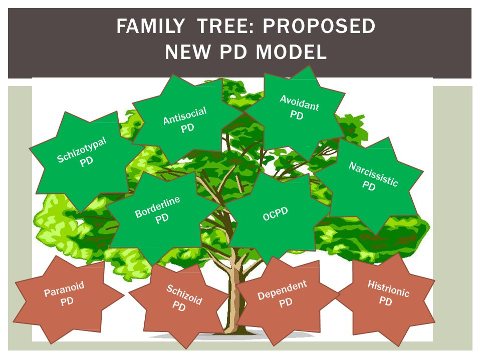 FAMILY TREE: PROPOSED NEW PD MODEL
