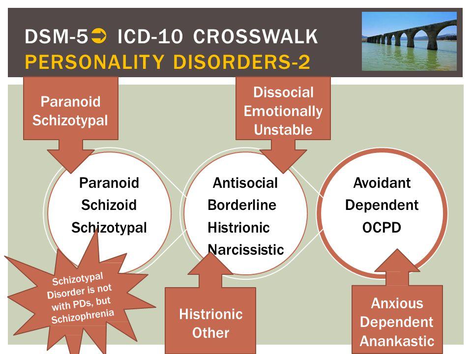 DSM-5 ICD-10 CROSSWALK PERSONALITY DISORDERS-2