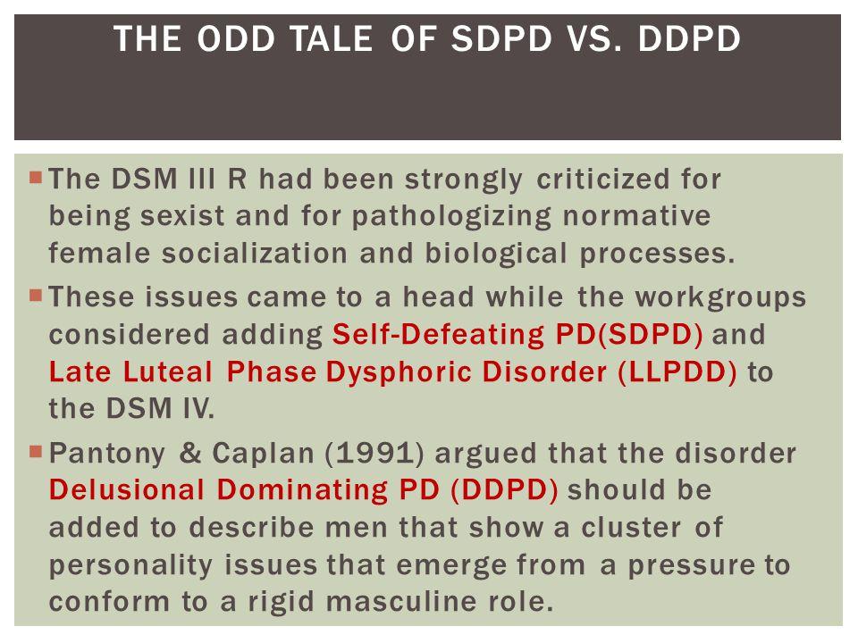 THE ODD TALE OF SDPD VS. DDPD
