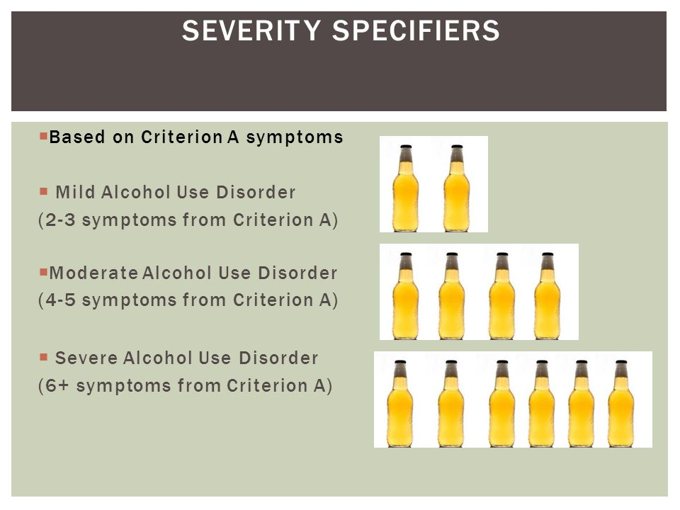 SEVERITY SPECIFIERS Based on Criterion A symptoms