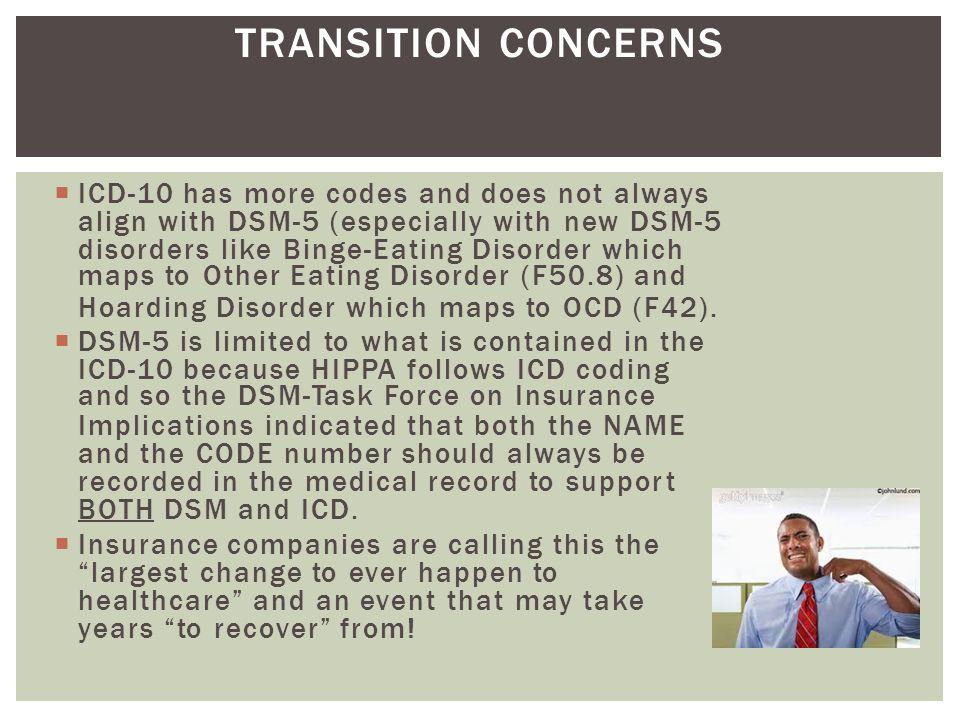 TRANSITION CONCERNS