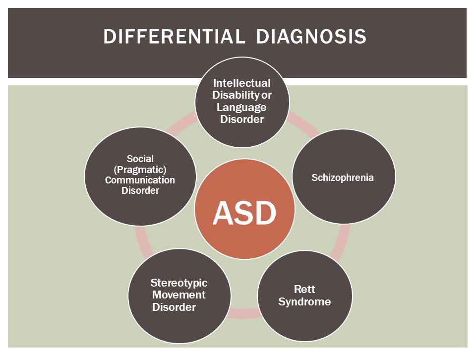 ASD DIFFERENTIAL DIAGNOSIS
