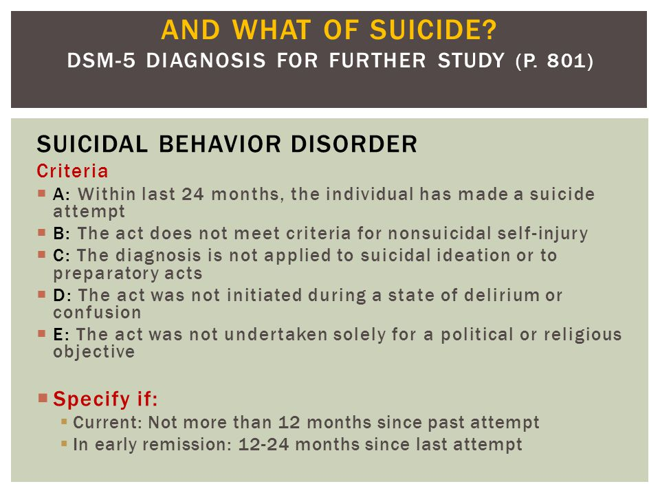 DSM-5 DIAGNOSIS FOR FURTHER STUDY ( P. 801)