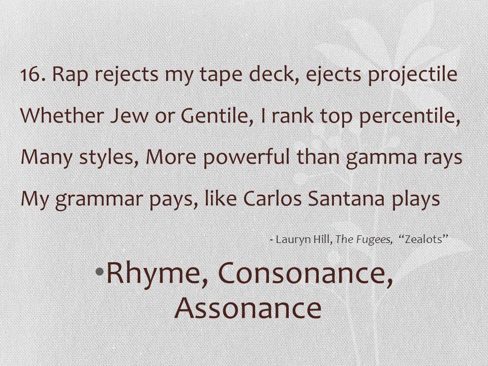 Rhyme, Consonance, Assonance