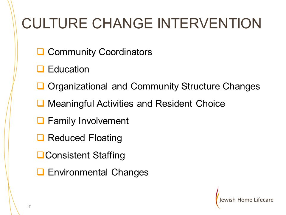 CULTURE CHANGE INTERVENTION