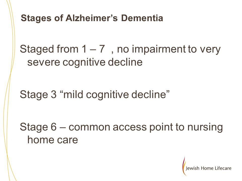 Stages of Alzheimer's Dementia