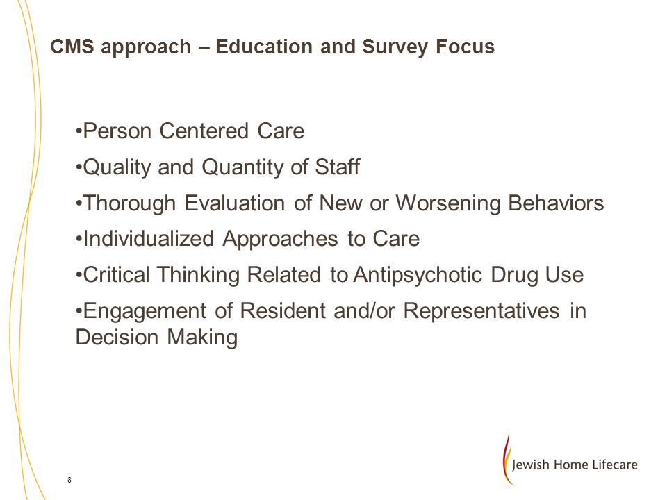 CMS approach – Education and Survey Focus