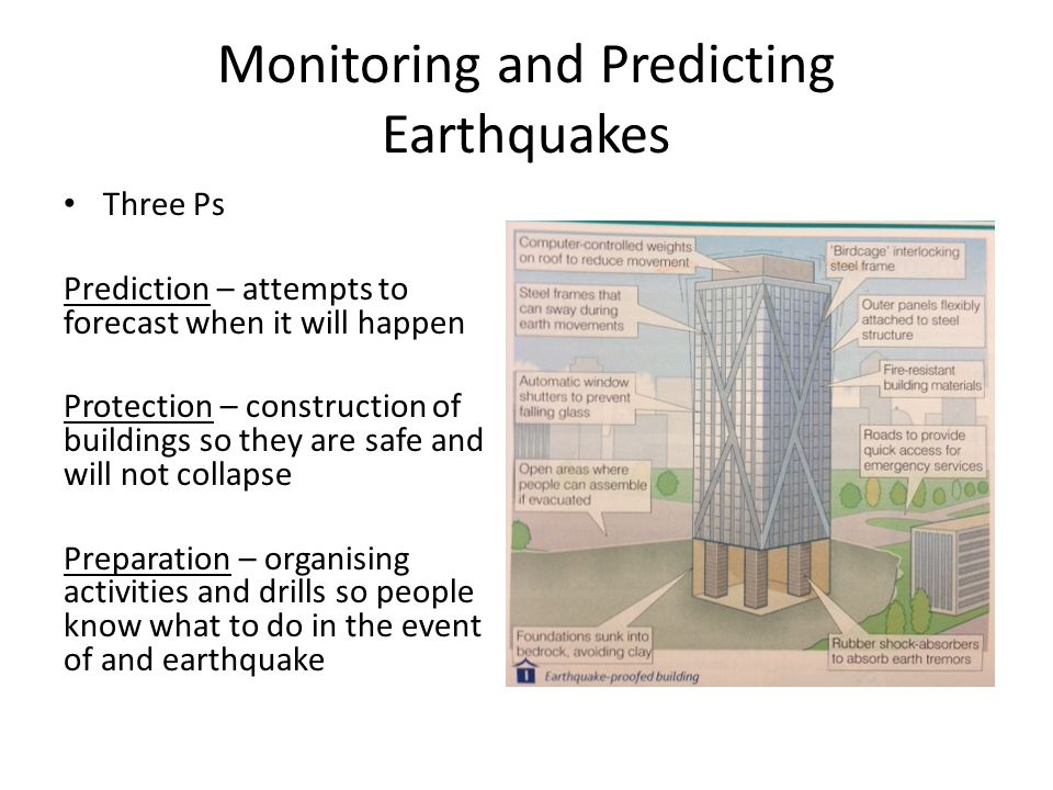 Monitoring and Predicting Earthquakes