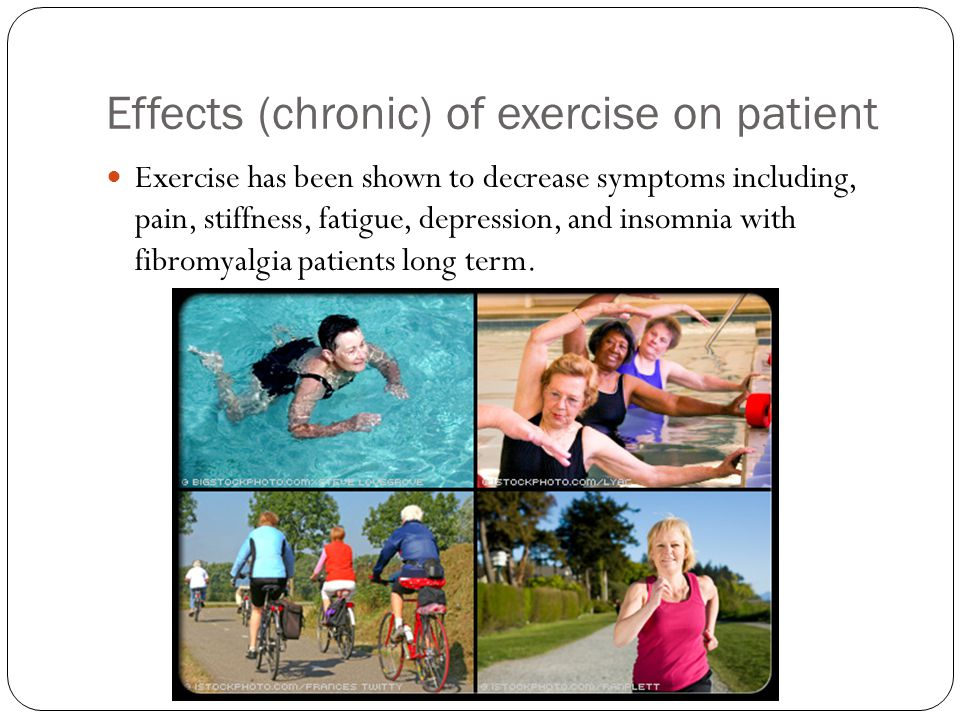 Effects (chronic) of exercise on patient