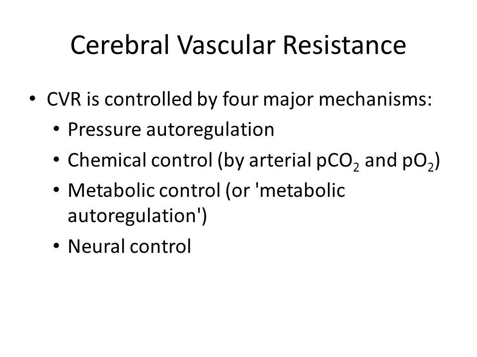 Cerebral Vascular Resistance