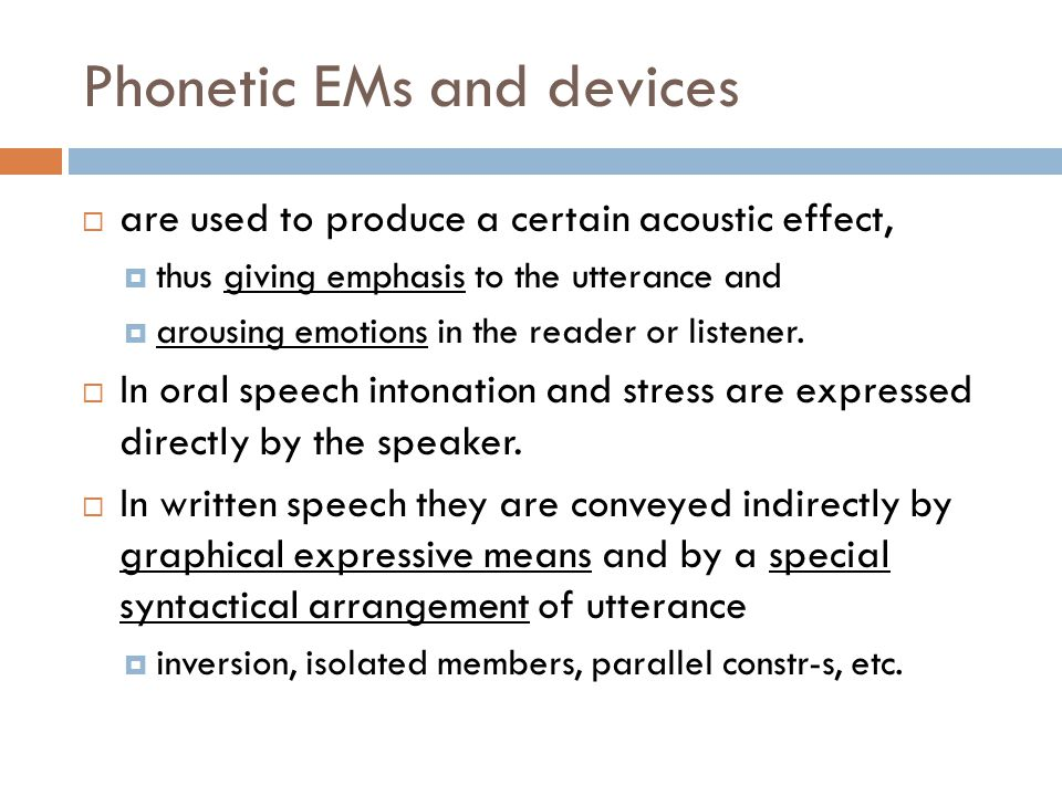 Phonetic EMs and devices