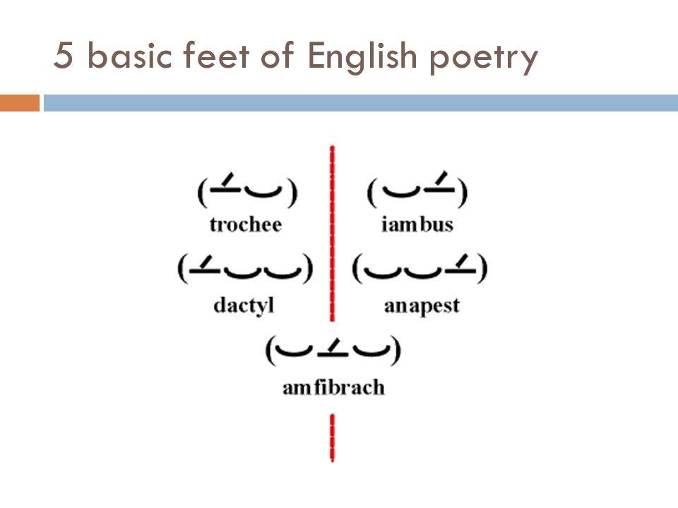 5 basic feet of English poetry
