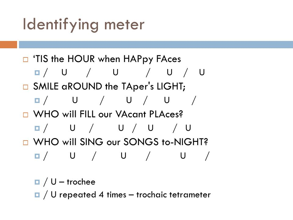 Identifying meter 'TIS the HOUR when HAPpy FAces