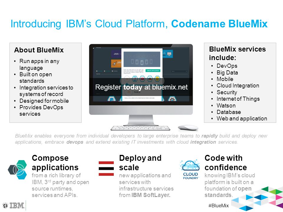 Developers are joining BlueMix because they need to…