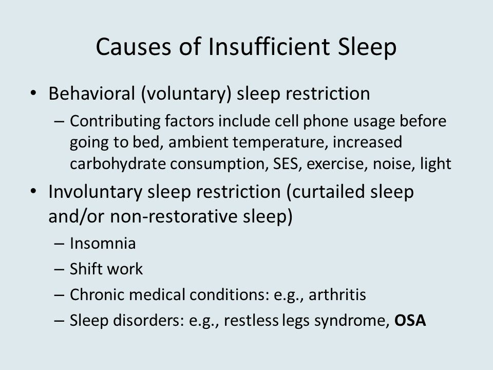 Causes of Insufficient Sleep