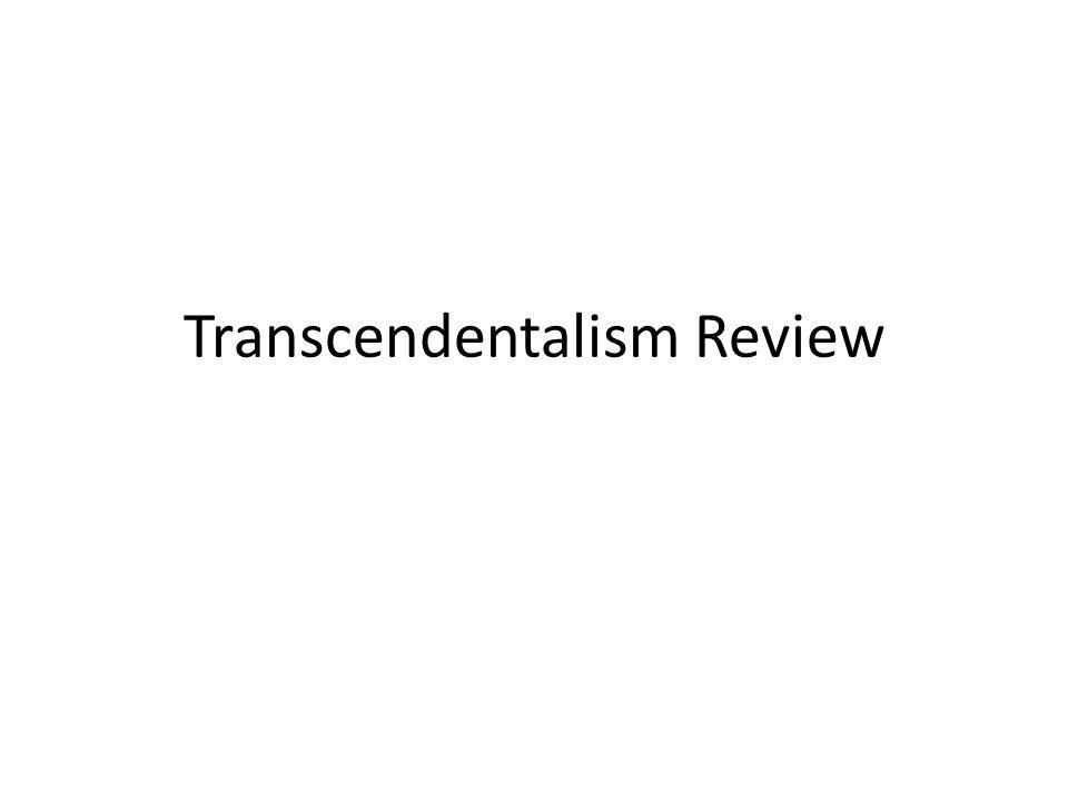 Transcendentalism Review