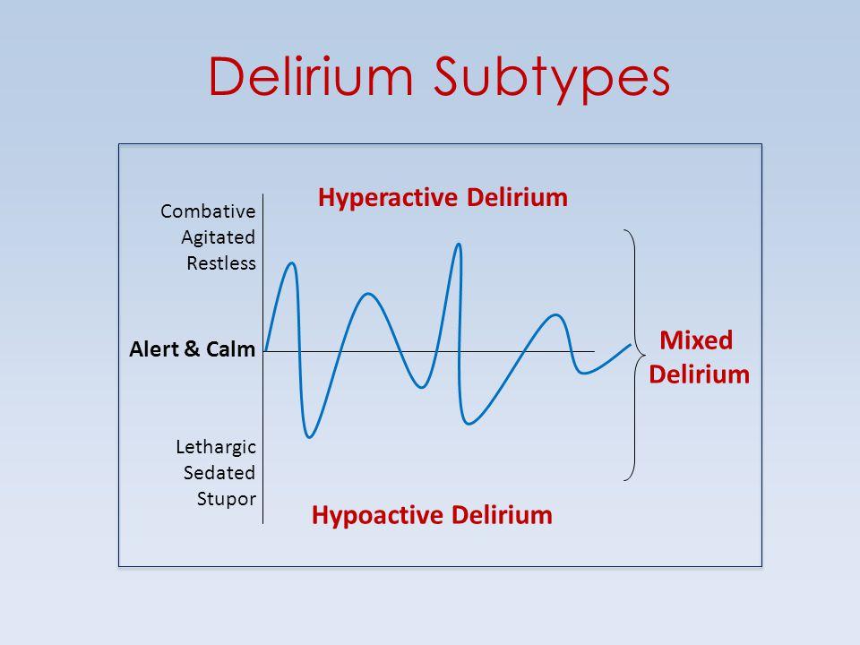 Delirium Subtypes Hyperactive Delirium Mixed Delirium