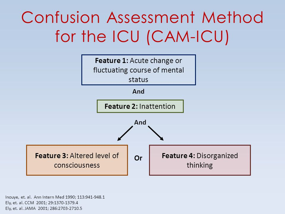 Confusion Assessment Method for the ICU (CAM-ICU)