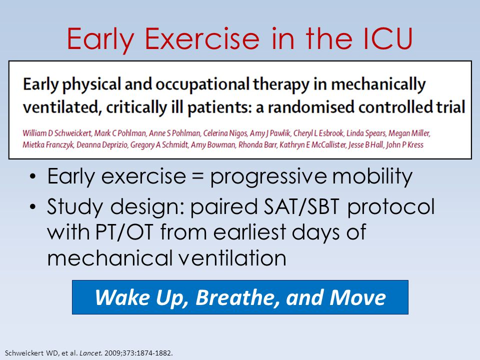 Early Exercise in the ICU