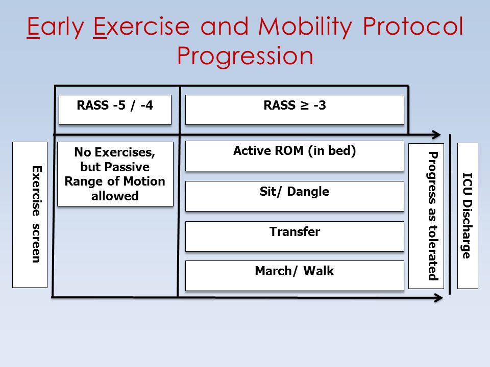 No Exercises, but Passive Range of Motion allowed