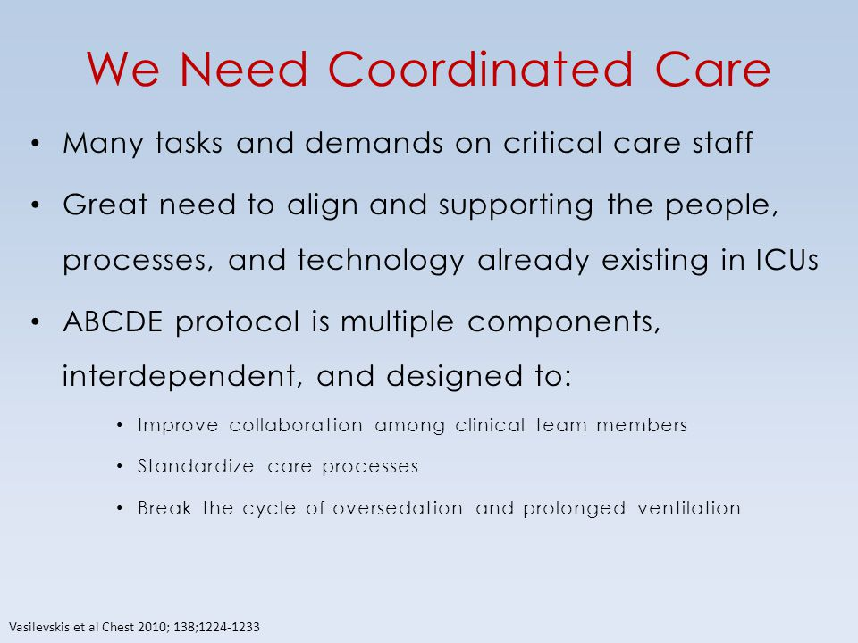 We Need Coordinated Care