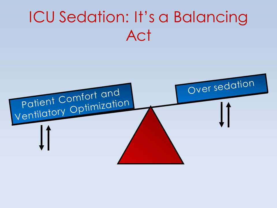 ICU Sedation: It's a Balancing Act