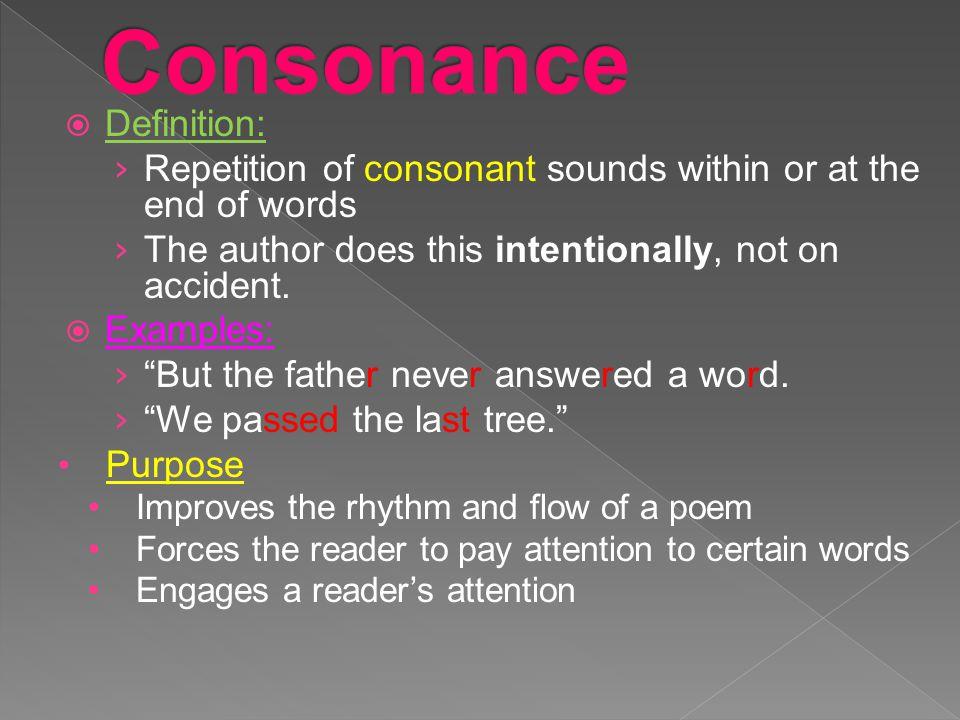 Consonance Definition: