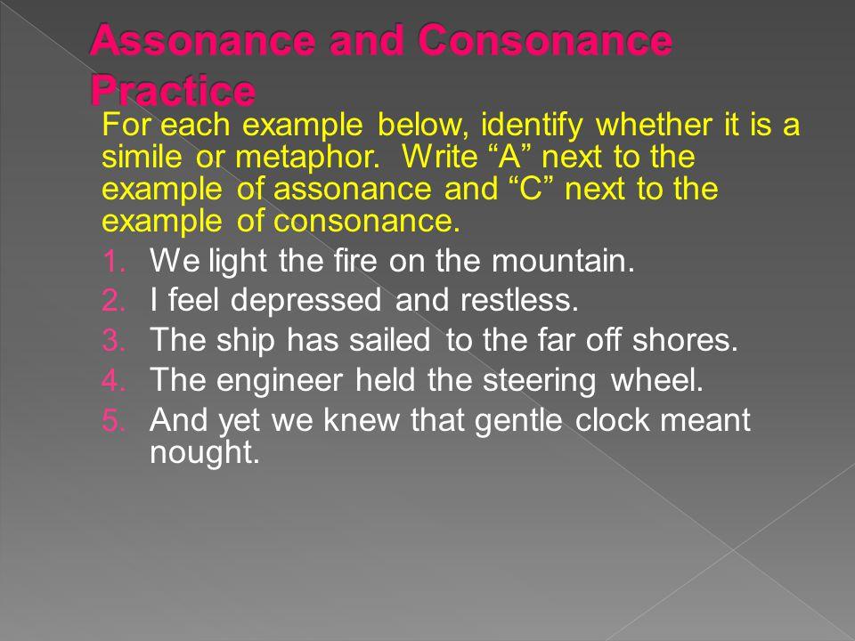 Assonance and Consonance Practice