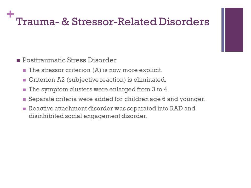 Trauma- & Stressor-Related Disorders