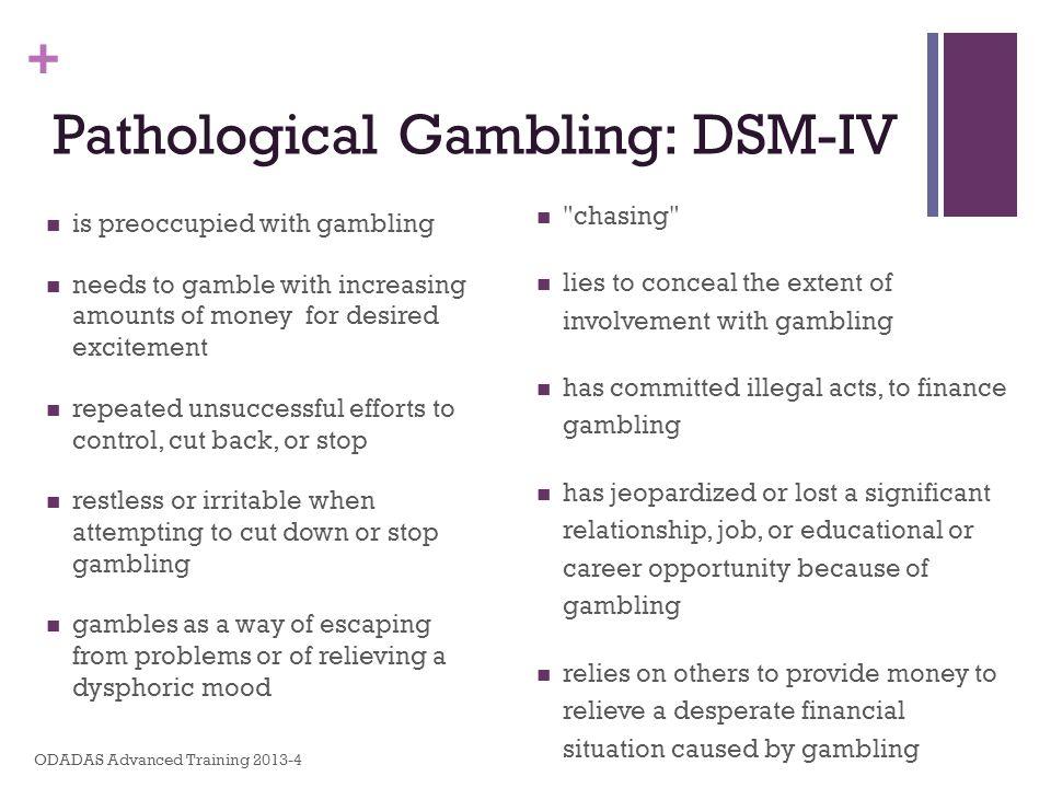 Pathological Gambling: DSM-IV