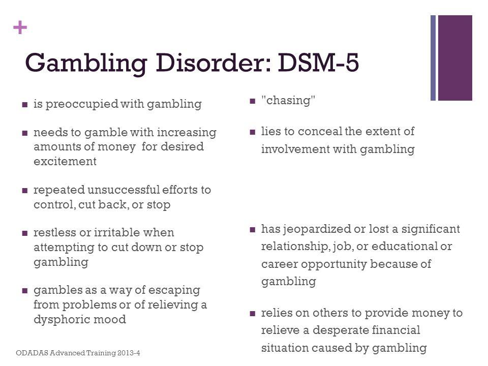 Gambling Disorder: DSM-5