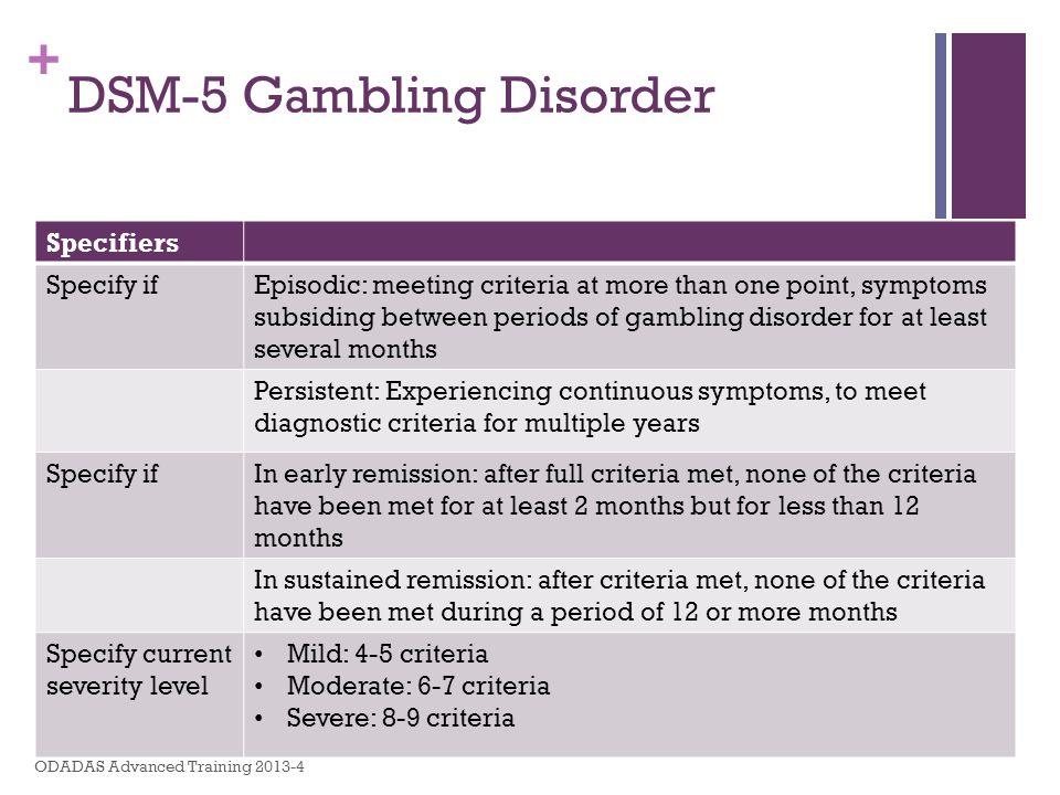 DSM-5 Gambling Disorder