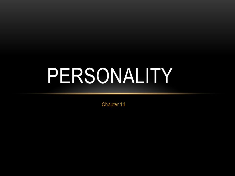 Personality Chapter 14
