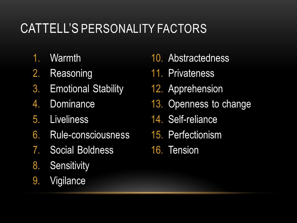 Cattell's Personality Factors