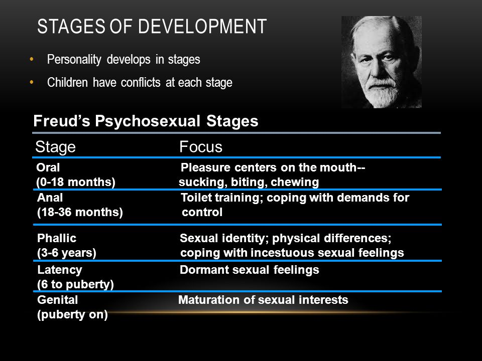 Stages of Development Freud's Psychosexual Stages Stage Focus