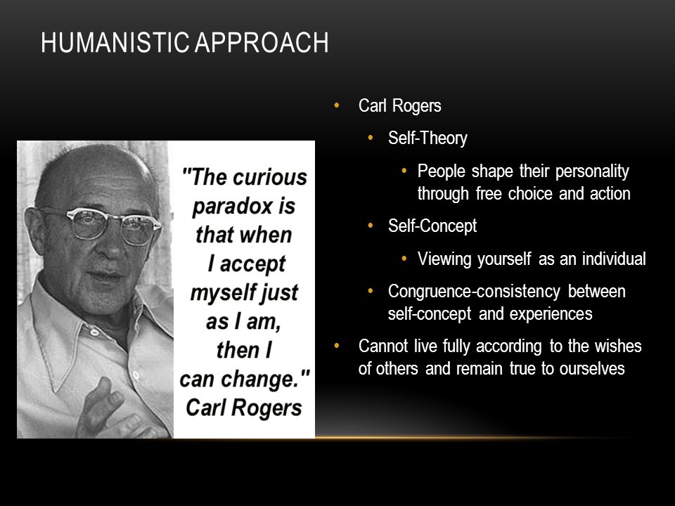 Humanistic Approach Carl Rogers Self-Theory
