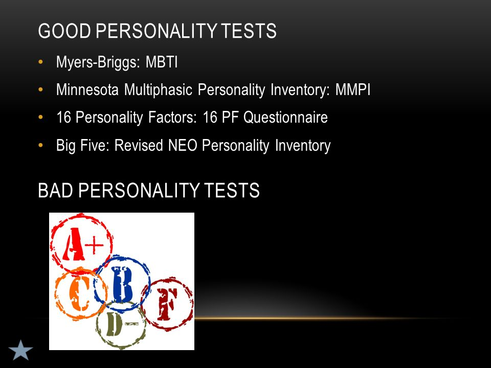 Good personality tests