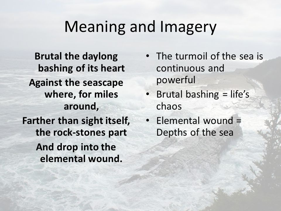 Meaning and Imagery