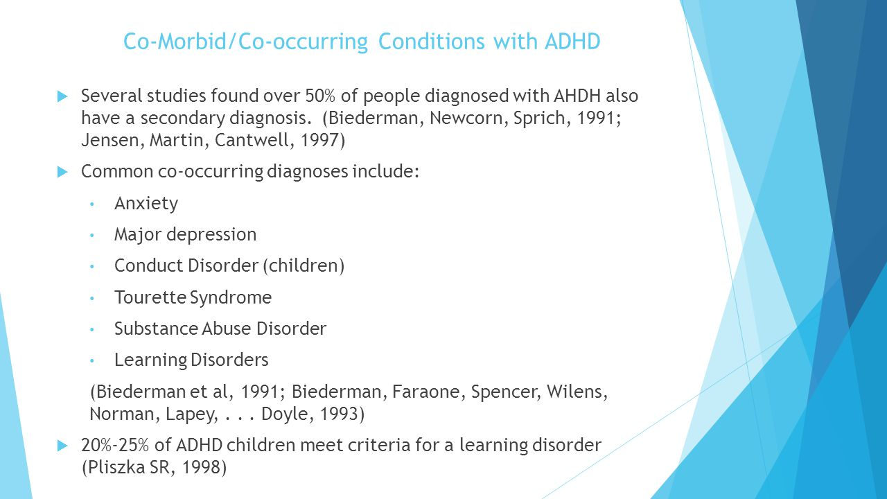 Co-Morbid/Co-occurring Conditions with ADHD