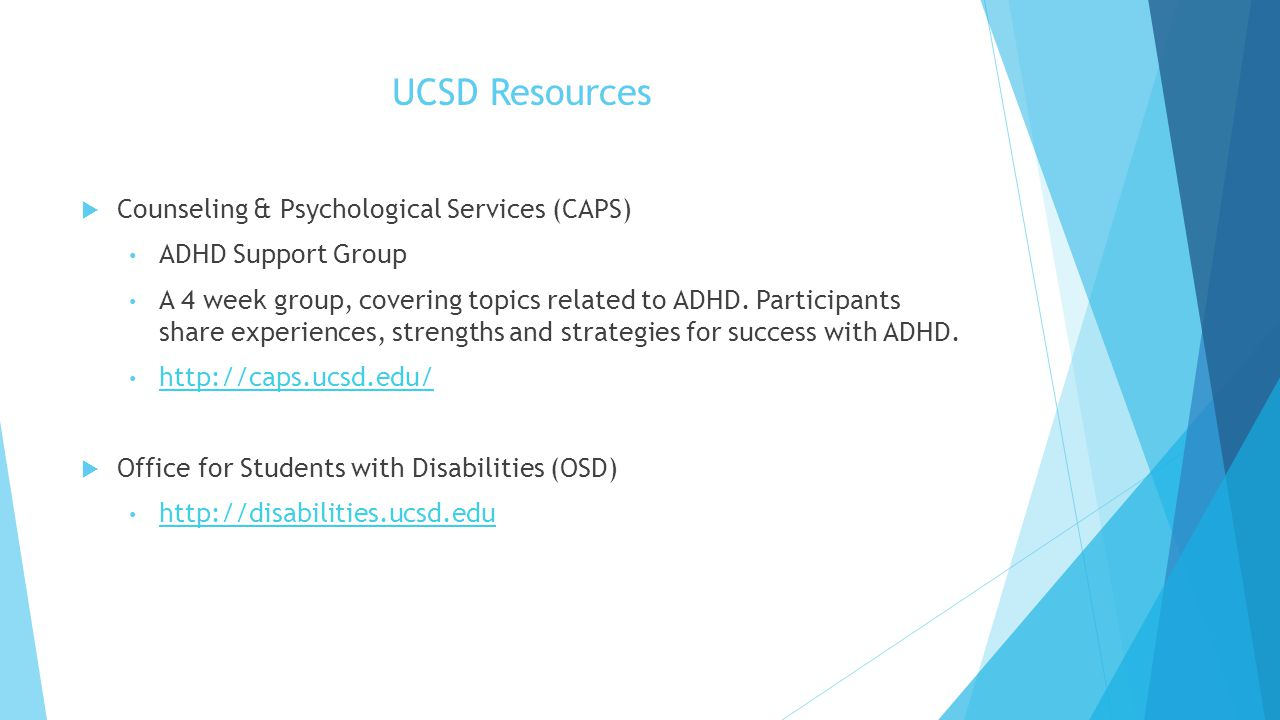 UCSD Resources Counseling & Psychological Services (CAPS)