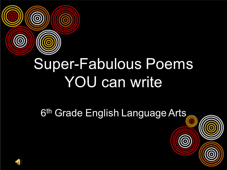 Super-Fabulous Poems YOU can write