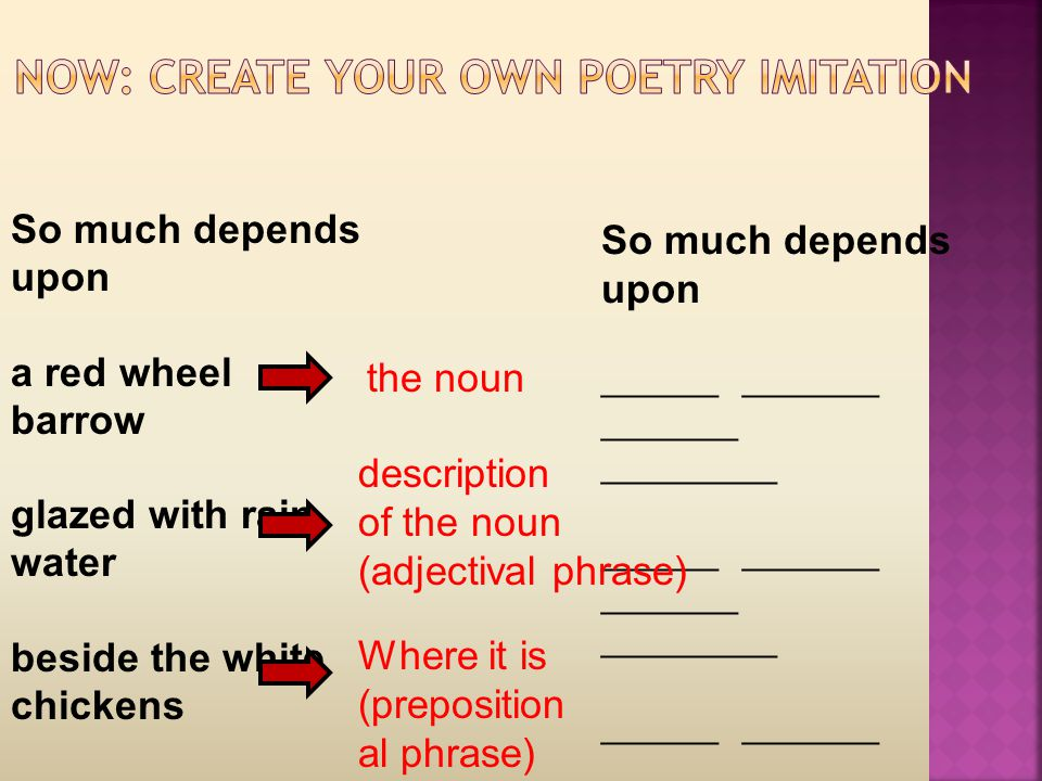 NOW: Create your own poetry imitation