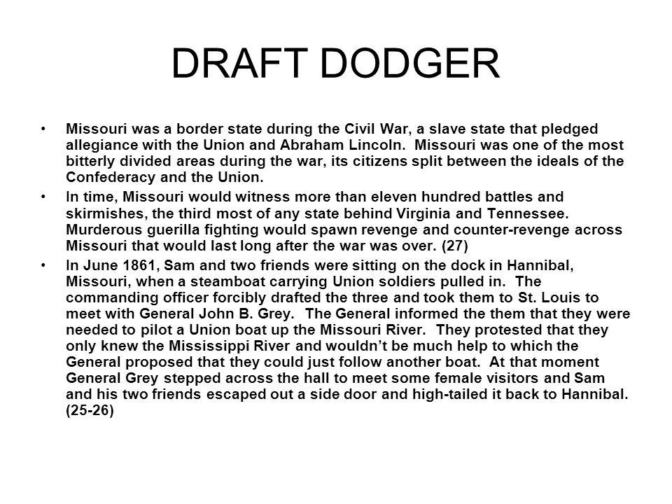 DRAFT DODGER
